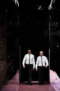 A dupla Domenico Dolce e Stefano Gabbana
