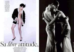 para a Vogue Japão, sem nada por baixo....