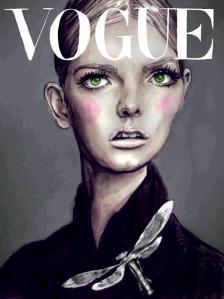 lydia hearst para Vogue