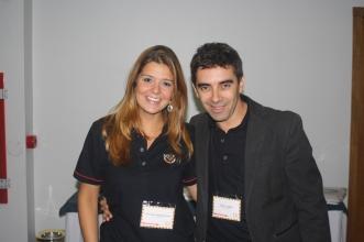 Caroline Damin Mertens, Analista de Marketing, e o Paulo Saban, consultor de marketing