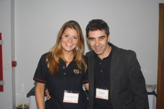 Caroline Damin Mertens, Analista de Marketing, e o Paulo Saban, consultor de marketing